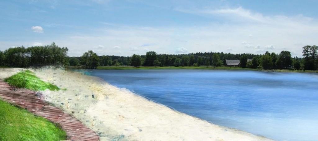 Zdjęcie: Koncepcja zagospodarowania terenu wokół zbiornika retencyjnego w Kluczborku