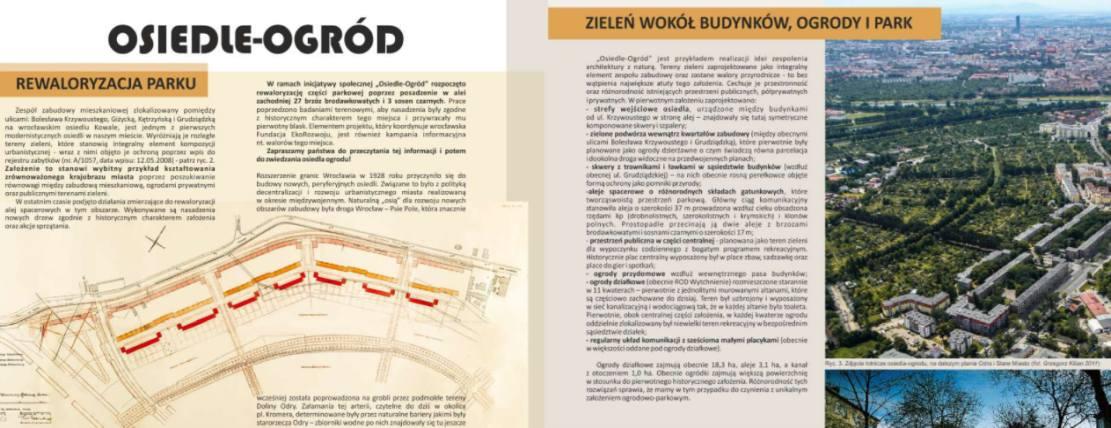 Tablica edukacyjna – Osiedle-Ogród