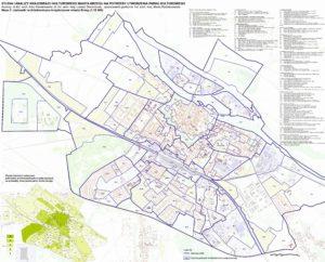 Mapa 2. Jednostki architektoniczno-krajobrazowe miasta Brzeg (skala 1:10 000) - Studium krajobrazu kulturowego Brzeg