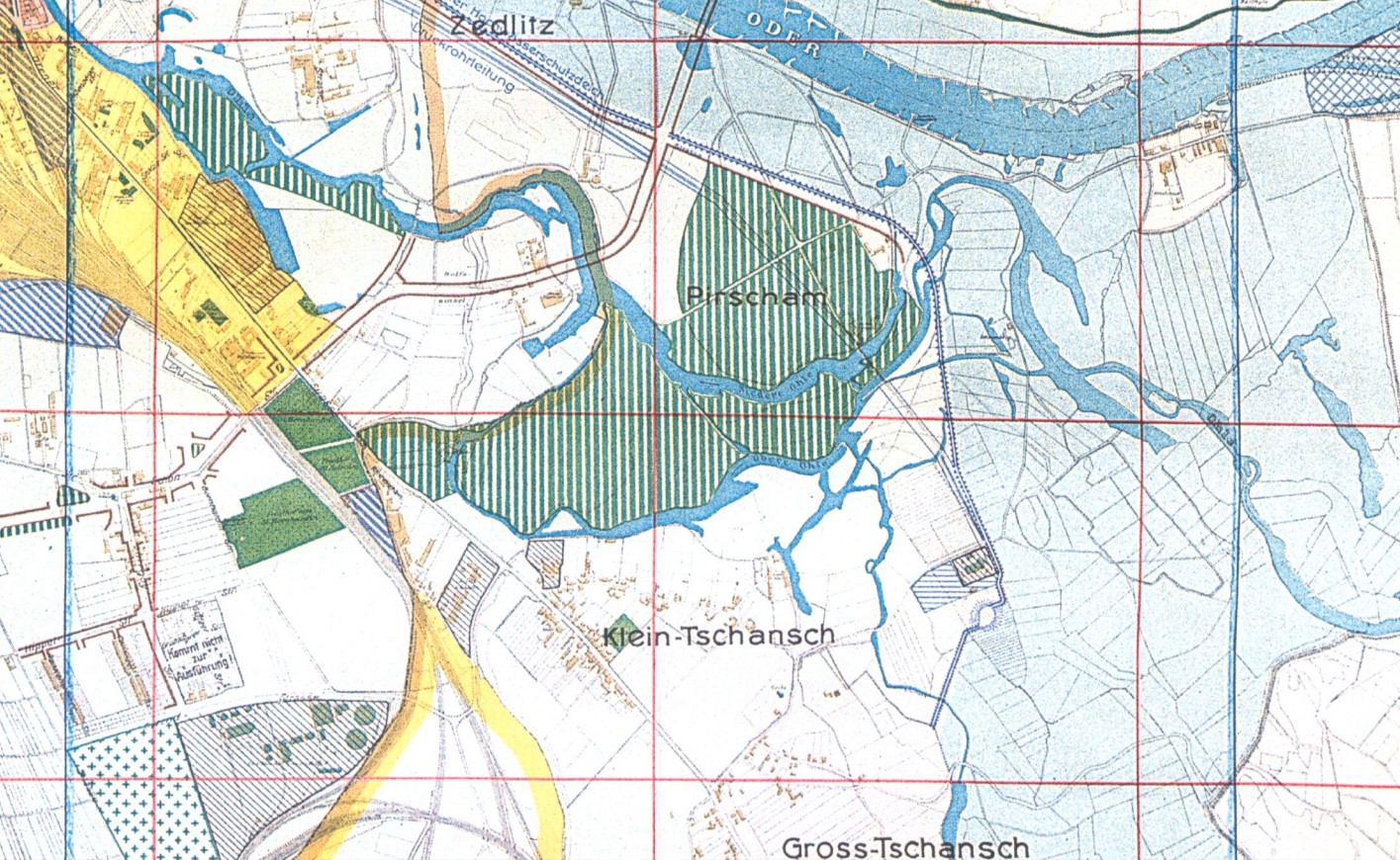 agment planu rozwoju Wrocławia z 1920 r.